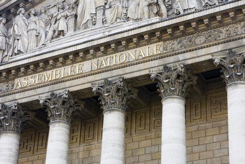 Le fronton de l'assemblée nationale